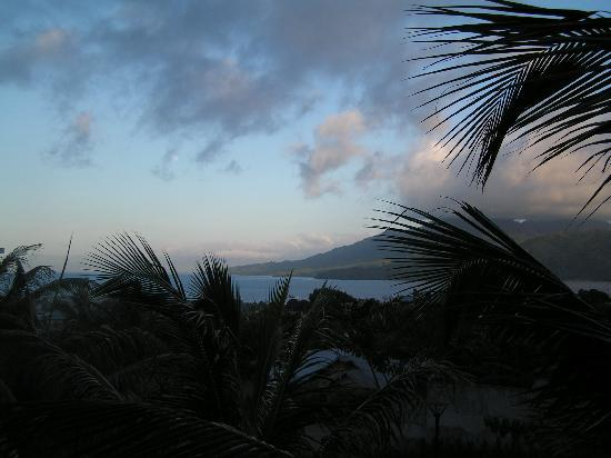 Grand Dafam Bela Ternate: View from our room in the early evening-1