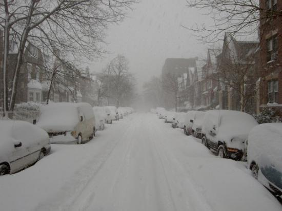 Jackson Heights, นิวยอร์ก: The blizzard of winter 2006