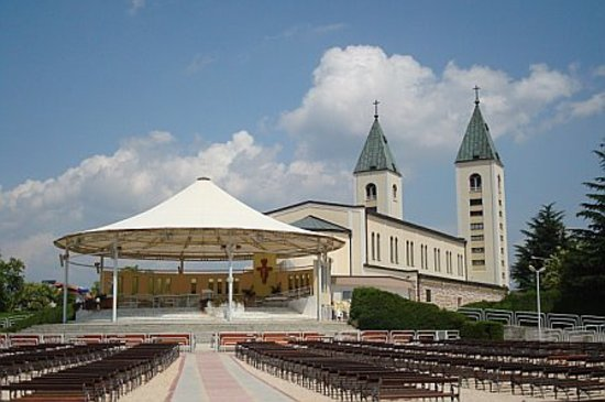 Medjugorje, Bosnia dan Herzegovina: St. James Church - backside