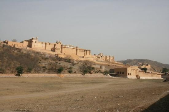 Amber Fort (Hindi: अमेर किला, also known as Amer Fort) is located in Amber, 11 km from Jaipur, R