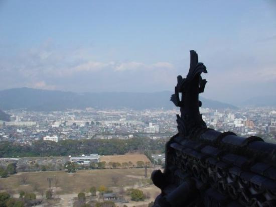 Himeji Castle: From the top of Himeji-Jo... February 2004