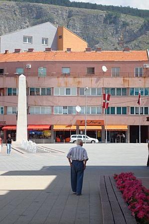 Livno, Bosnia and Herzegovina: Main street -pedestrianized