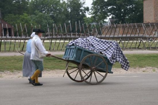 Colonial Williamsburg: Taking wares to market.