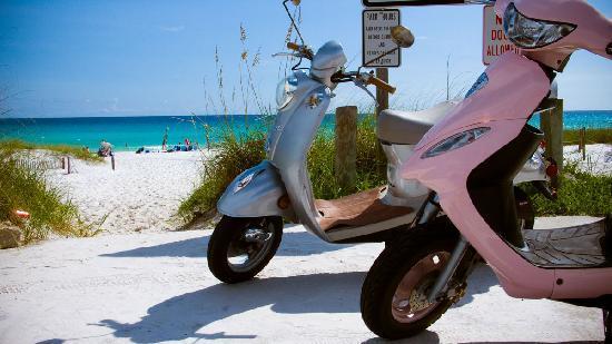 เดสติน, ฟลอริด้า: Scooters took us to the beach