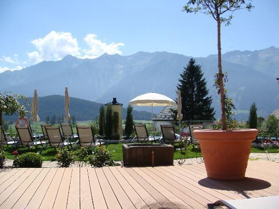 Alpenresort Schwarz : Lying on a sun lounger, admiring the scenery