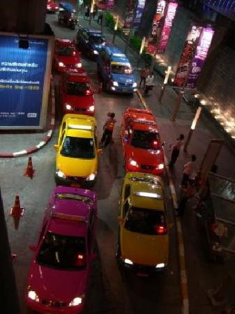 Taxis come in all colours