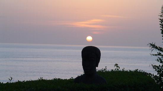 Les Alizes Beach Resort: Le coucher du soleil