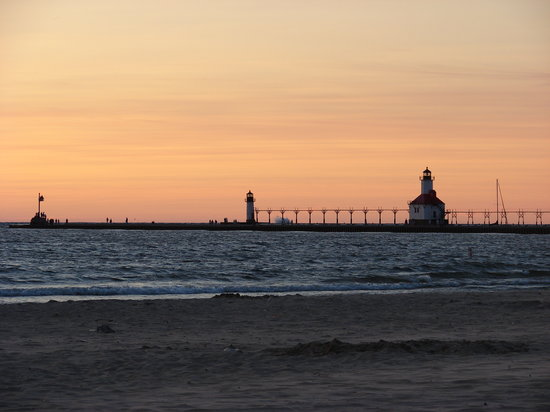 Saint Joseph, MI: The most beautiful sunset