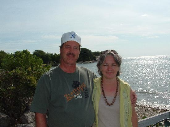 A Water's Edge Retreat Resort: My husband and me on the deck