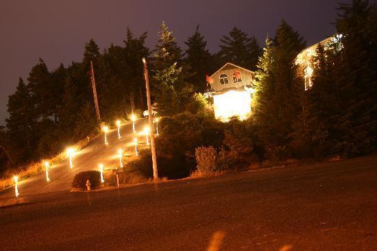 لاندمارك إن: The 'ski slope' up to the Inn!