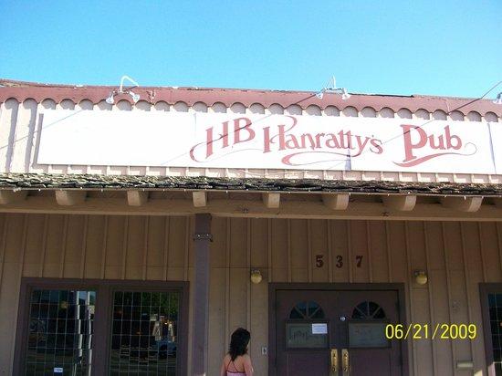 H B Hanratty's: outside of pub 6-21-09