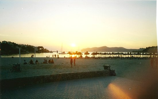 Santa ponsa Beach at sunset