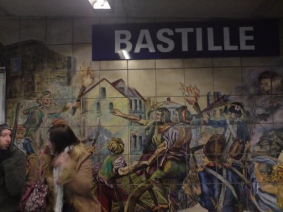 Place de la Bastille: bastille metro