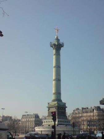 Place de la Bastille: the bastille