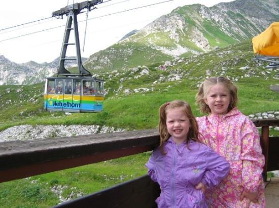 โอเบอร์สดอร์ฟ, เยอรมนี: The cable car to get up the mountain...Nebelhorn
