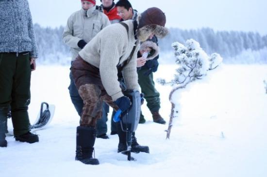 คีรูนา, สวีเดน: ice fishing