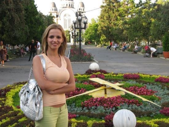 Tirgu Mures, Romania: con el reloj de flores