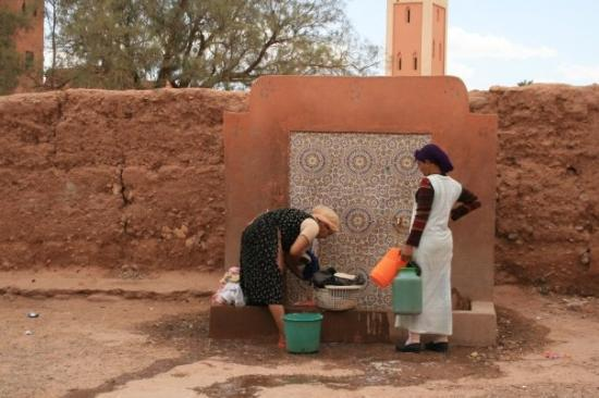 "Taourirt Kasbah : ""couleur locale"" on main square of Ouarzazate's kashbah"