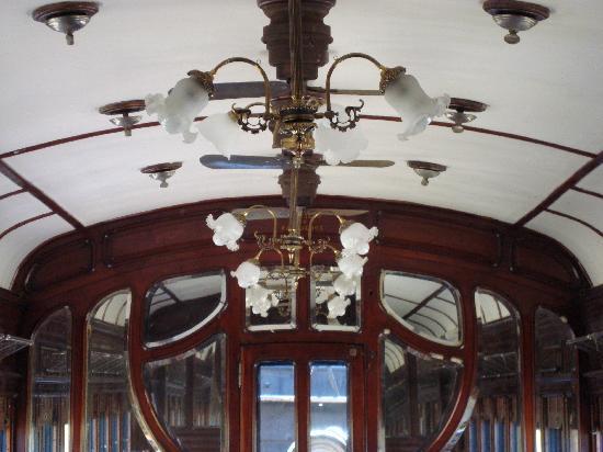 Tren Historico a Vapor Bariloche: detalle del techo del vagon