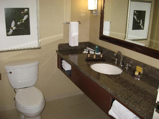 Raleigh Marriott City Center: Clean - new - bathroom