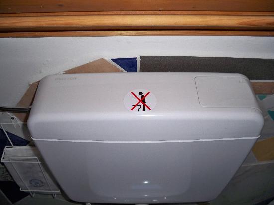 Pension Jeske : Toilet in Jeske: men not allowed to pee standing up!