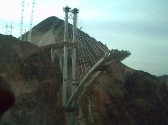The new suspension bridge over the Hoover Dam.
