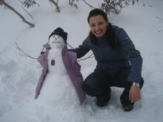 Falls Creek, Australia: My snowman or snowwoman?