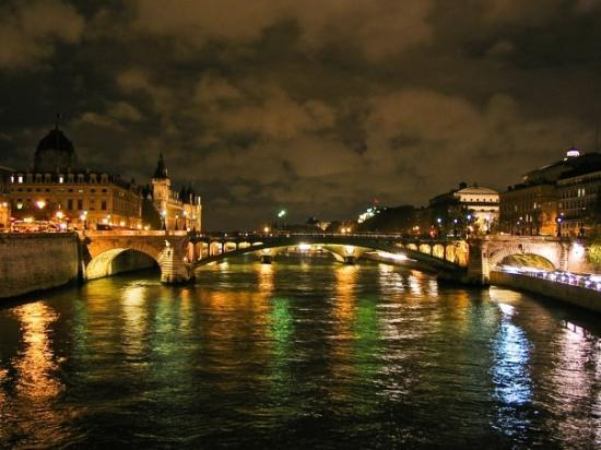 Río Sena: Uno de los tantos puentes en París....igualito que el mapocho jaja