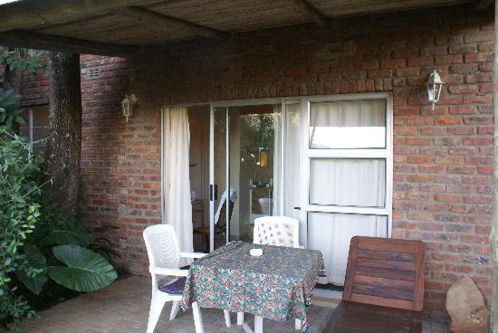 Tzaneen, Güney Afrika: The patio to our room