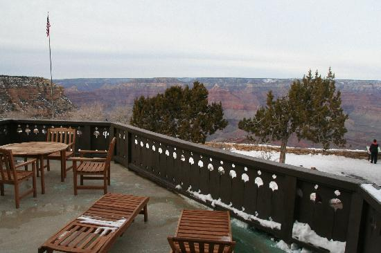Our balcony picture of el tovar hotel grand canyon for On our balcony