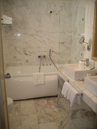 The Rοyal Blue : superior garden room bathroom
