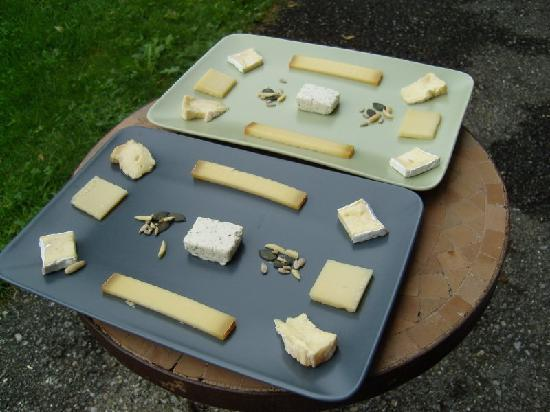 Lavendelhaus: A selection of cheeses - one of many options for breakfast