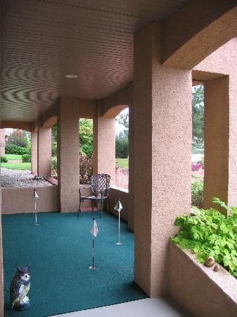 A Vacation Paradise at Quail Ridge B & B : Our private putting green