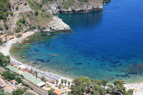 Taormina, Italia: View from up high!