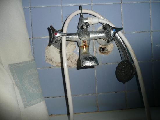 Alcazar Hotel: Non working shower head bathroom 310