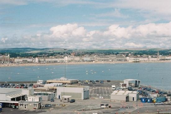 Weymouth, UK: one of the views from the top of the walls