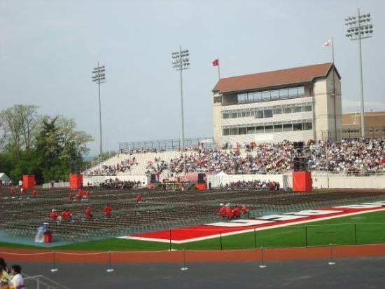 Cornell University: The stadium prior to the procession