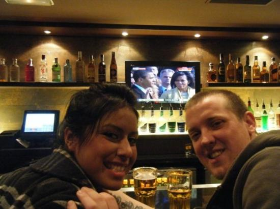 Hard Rock Cafe: Watching the inauguration at the Hard Rock in Barcelona, Spain