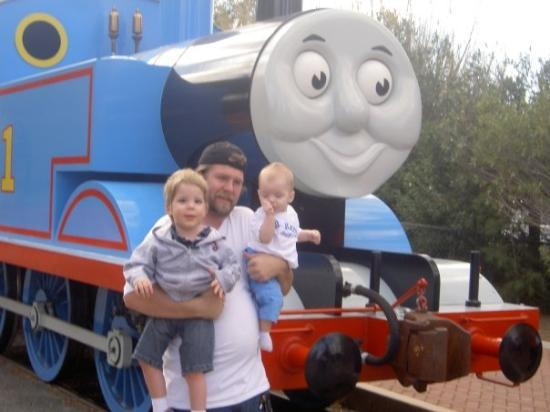 Us at A Day Out with Thomas in Perris, CA for Psye's 3rd birthday.