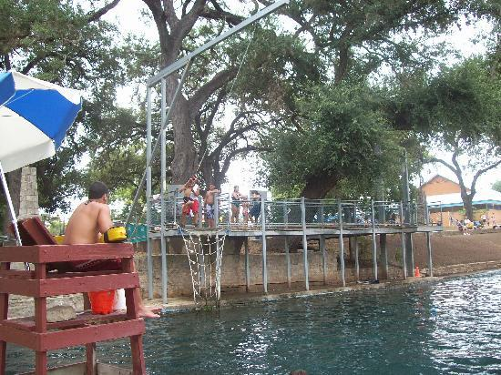 New Braunfels, TX: Rope Swing at Landa Park