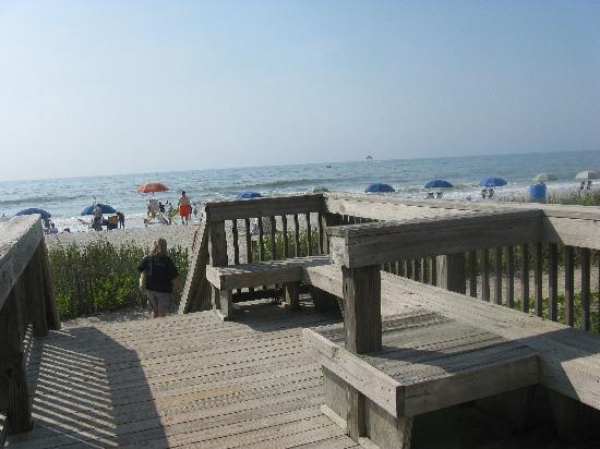 Boardwalk To Beach Picture Of Hampton Inn Amp Suites Myrtle Beach Oceanfront Myrtle
