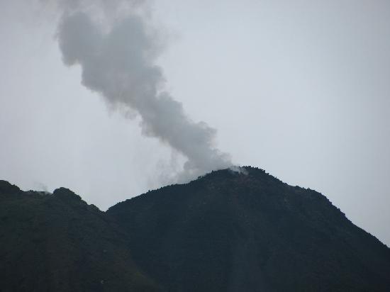 The Royal Corin Thermal Water Spa & Resort: Volcano Smoking!