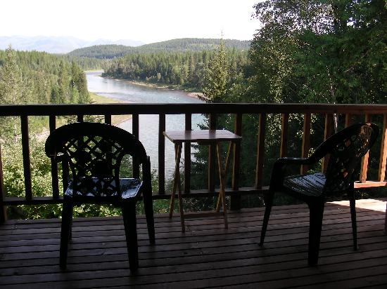 Glacier Park Inn Bed and Breakfast: Relax on the back deck