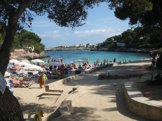 Fowlers Hotel: Cala D'or beach about 3mins walk away