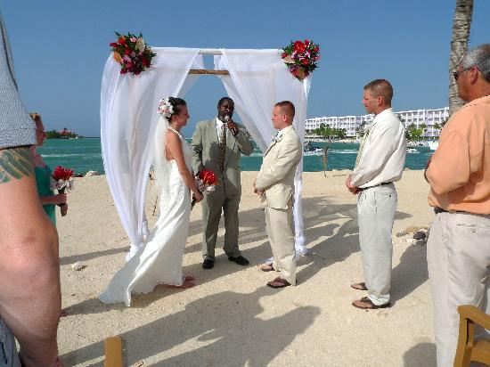 Hotel Riu Montego Bay Our Ceremony At West End Beach