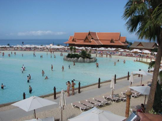 Siam Park: View from the cabana