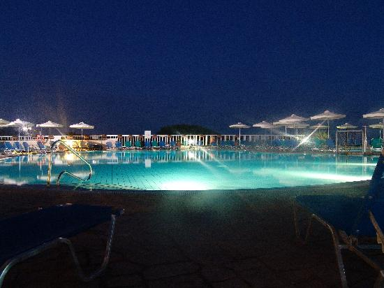 Aktea Beach Village: Pool by Night