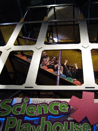 Museum of Science & Technology (MOST): The playhouse is big enough for adults, and very well supervised.