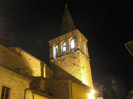 Sansepolcro, Italia: Campanile Duomo in notturna