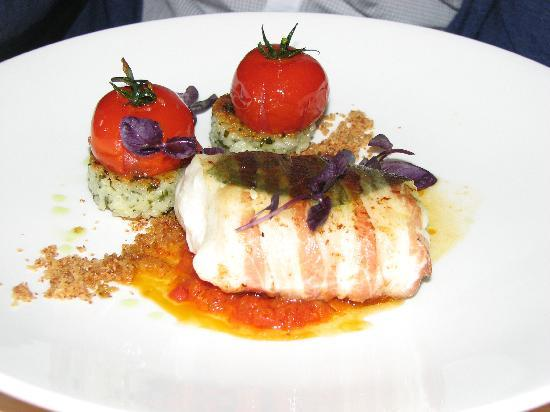 The Harbour: Pan fried Hake, roasted tomatoes and risotto cakes!
